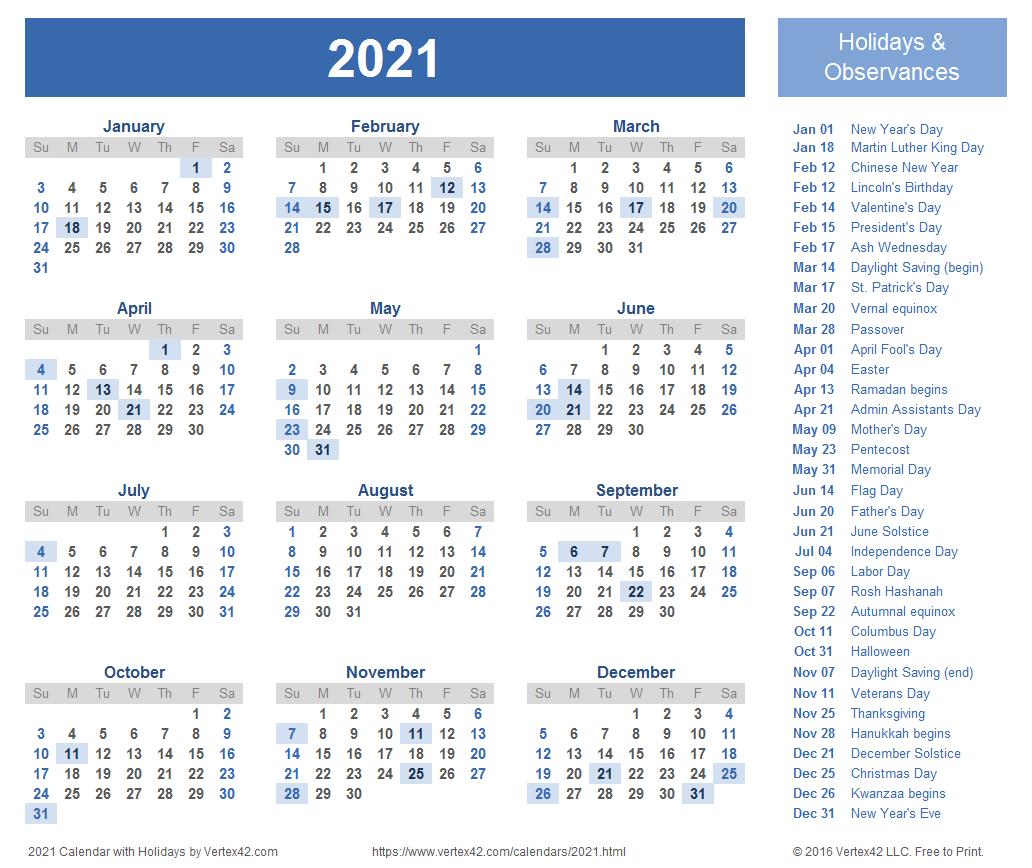 2021 Calendar Templates And Images 2019 Calendar 4 4 5