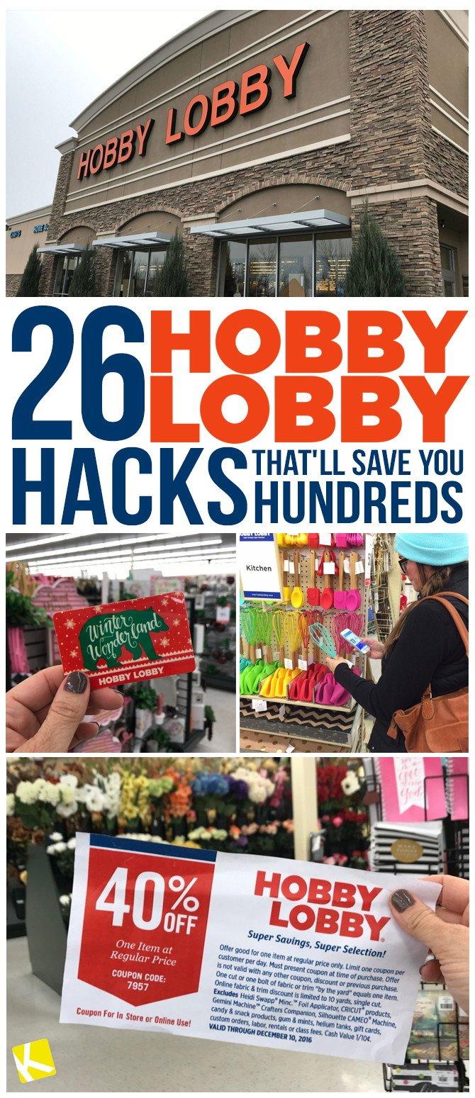 26 Hobby Lobby Hacks That'll Save You Hundreds – The Krazy Coupon Lady Calendar 2019 Hobby Lobby