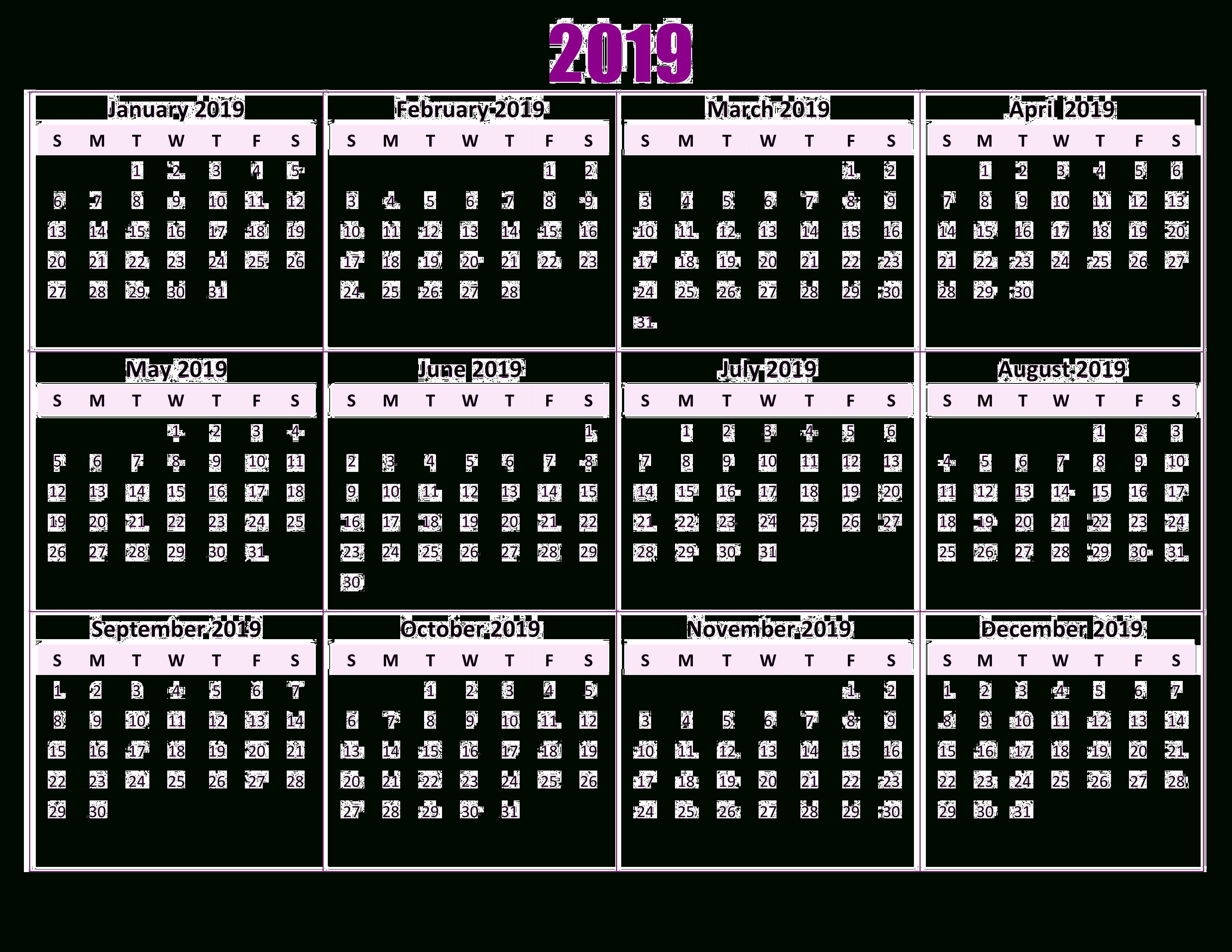 30+] 2019 Calendar Wallpapers On Wallpapersafari Calendar 2019 Wallpaper