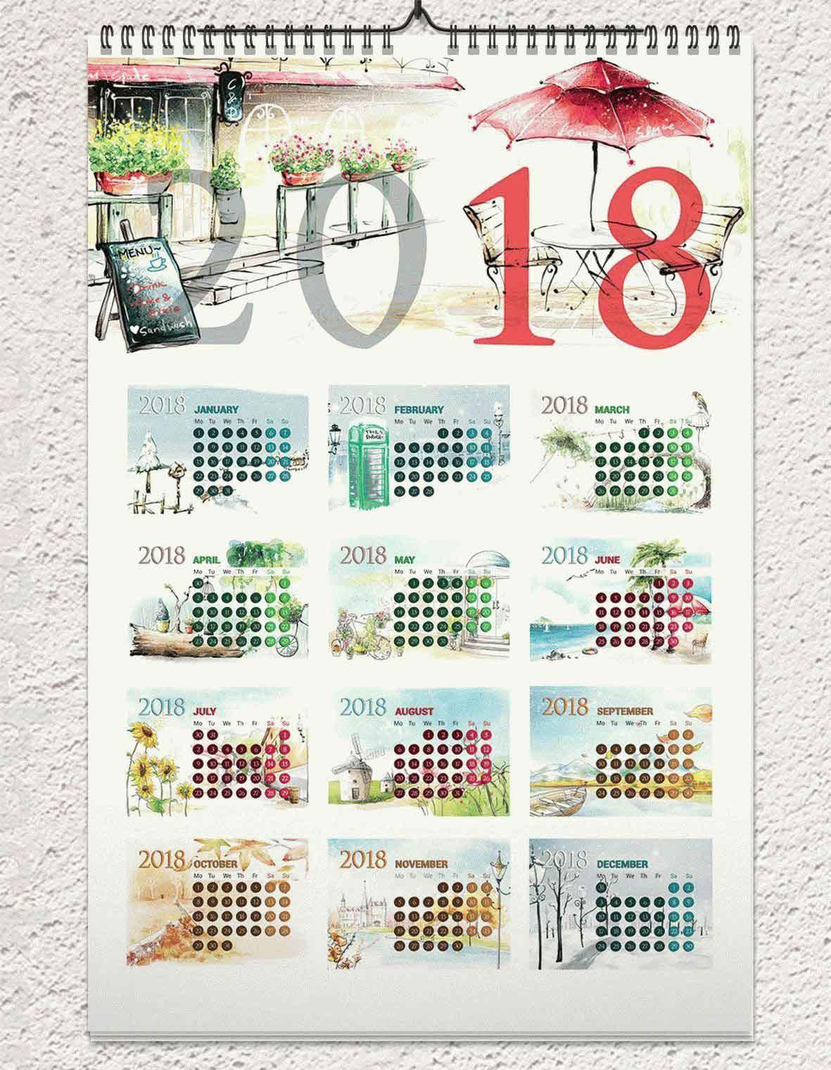 40+Premium And Free Psd Calendar Templates & Mockups To Create The Calendar 2019 Template Psd