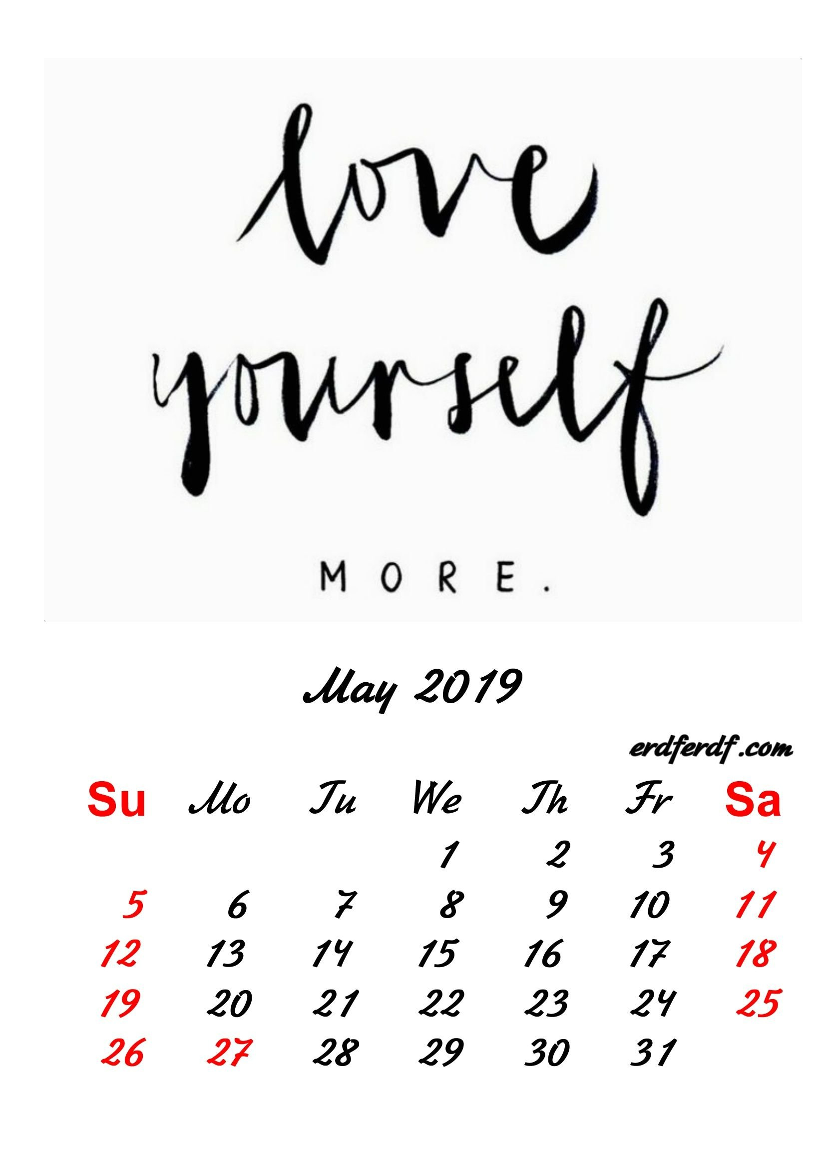 5 May 2019 Inspirational Quotes Pprintable Calendar   Monthly Calendar May 5Th 2019