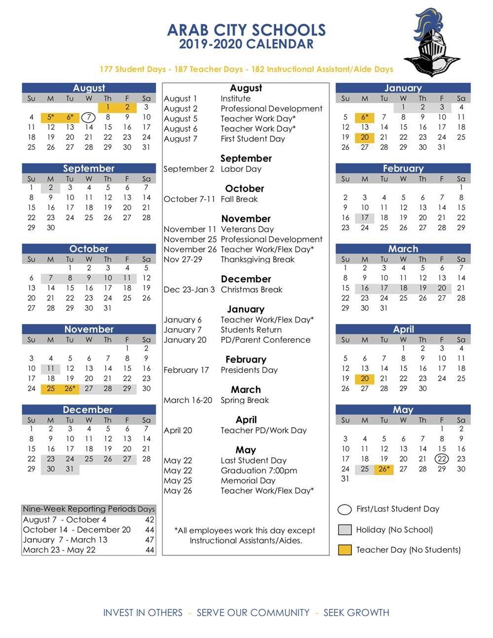 Academic Calendars / 2019 20 Acs Calendar Calendar 2019 Greece