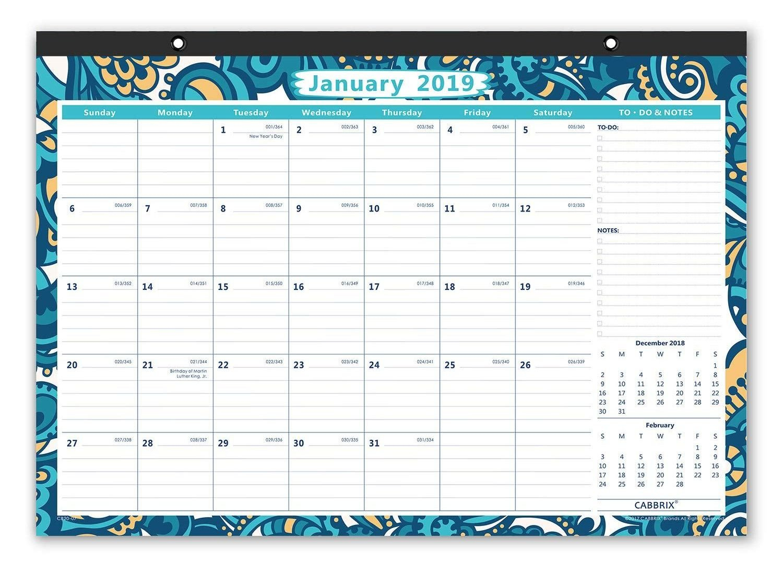 Amazon: 2019 Desk Calendar, Monthly Wall Calendar, Ruled Blocks, 17 Calendar 2019 Amazon
