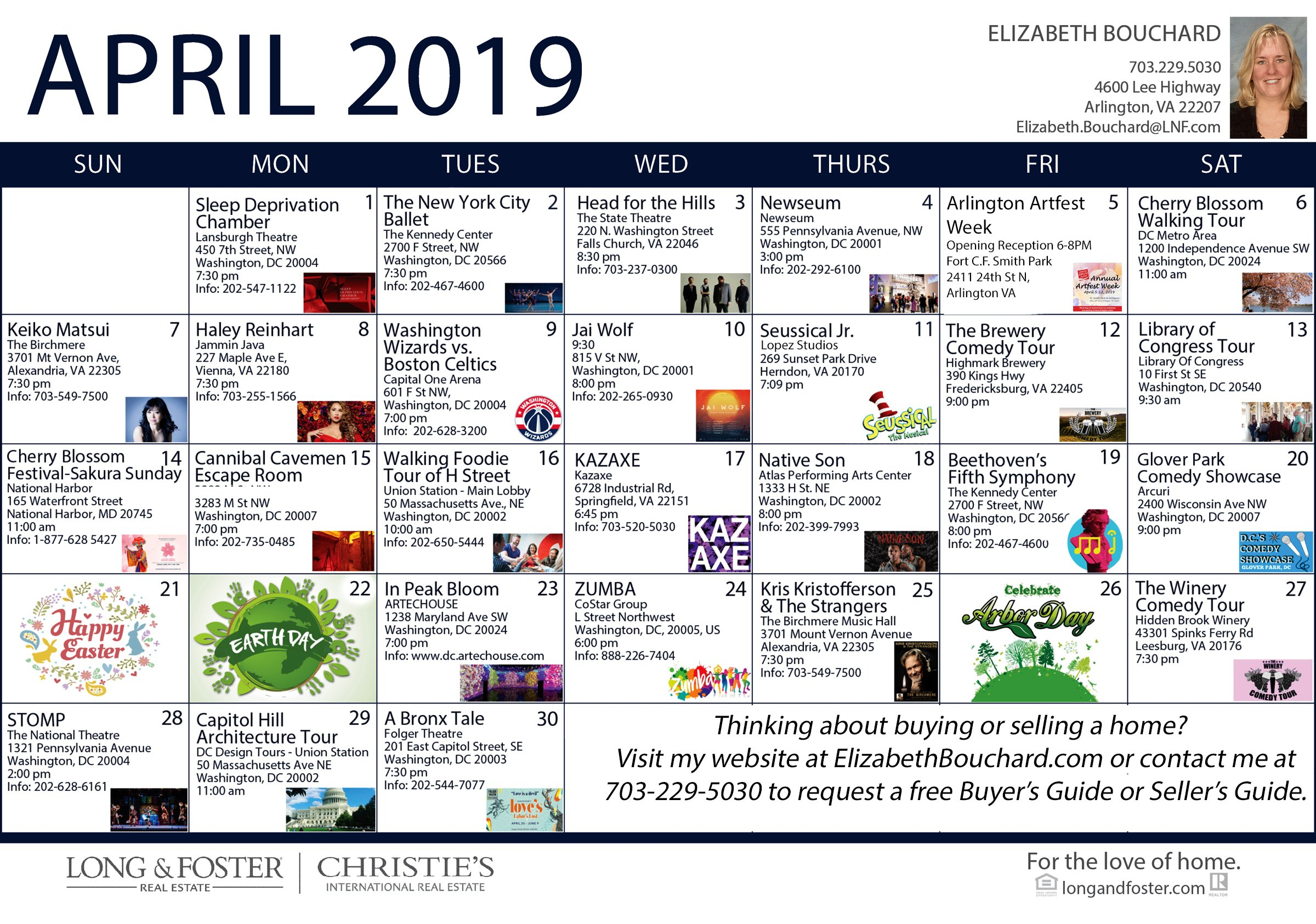 April 2019 Calendar Of Area Events – All Around Arlington 544 Calendar 2019