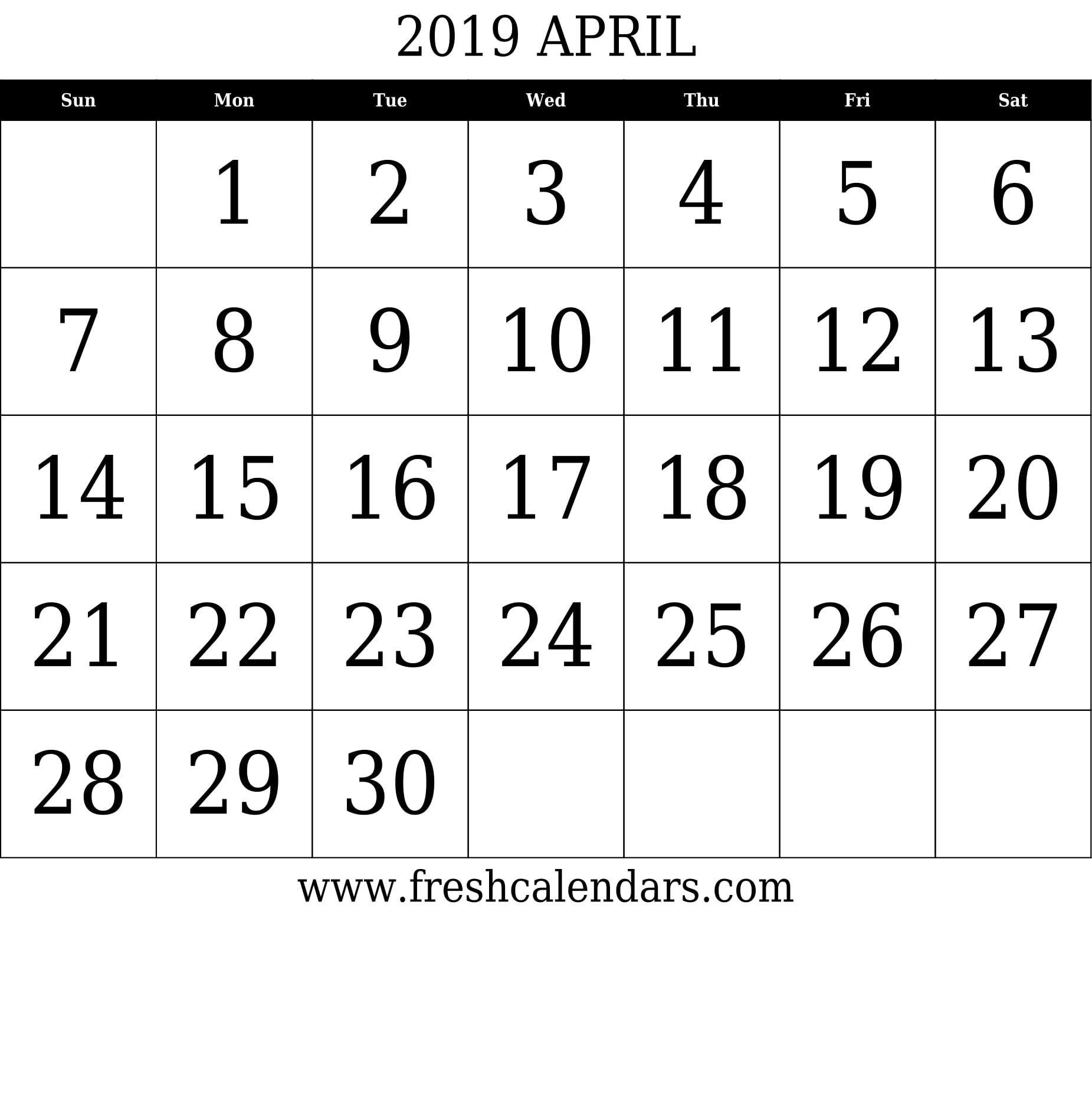 April 2019 Calendar Printable – Fresh Calendars April 8 2019 Calendar