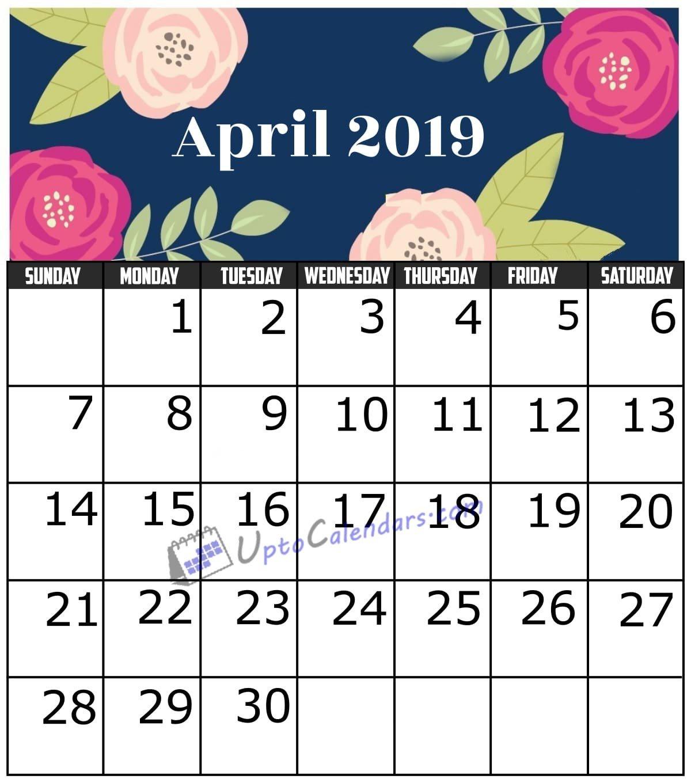 April 2019 Calendar Printable Template With Holidays Pdf Word Excel April 5 2019 Calendar