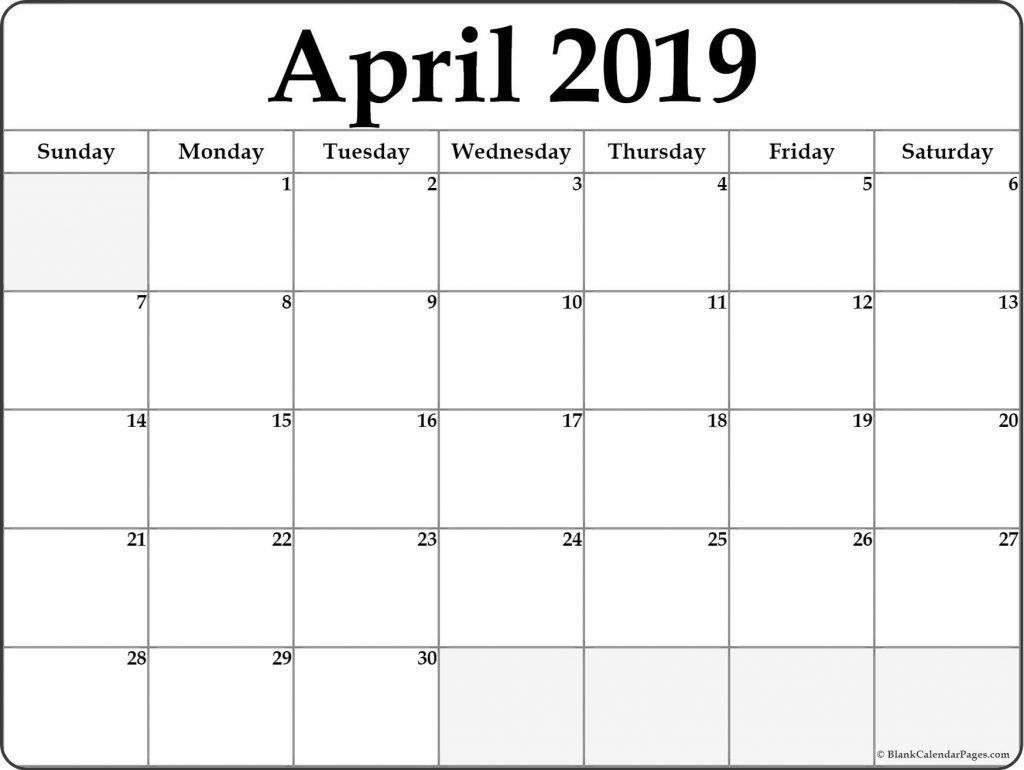 April 2019 Calendar Template Word #april #april2019 Calendar 2019 April