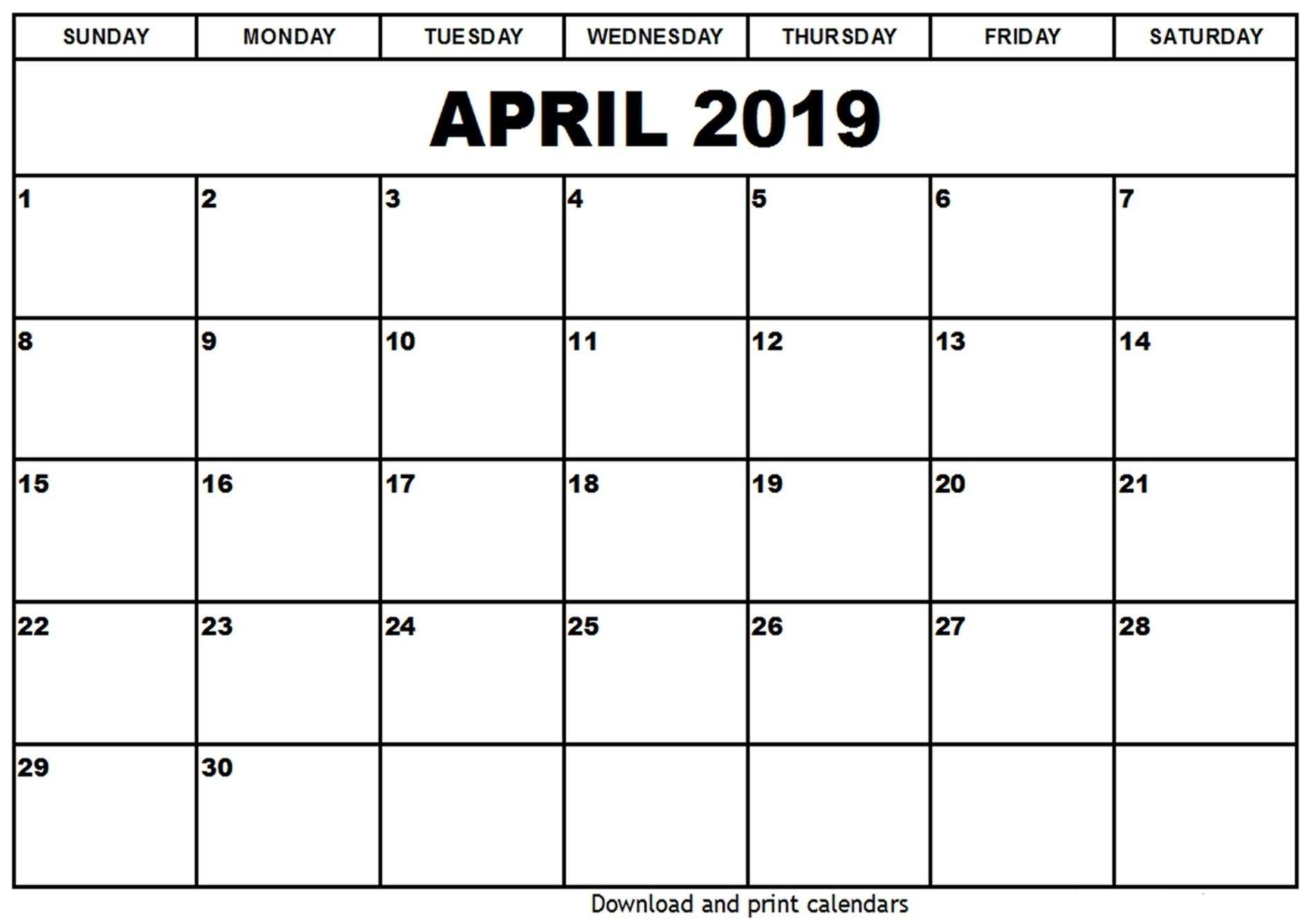 April 5 2019 Calendar   Calendar Format Example April 5 2019 Calendar