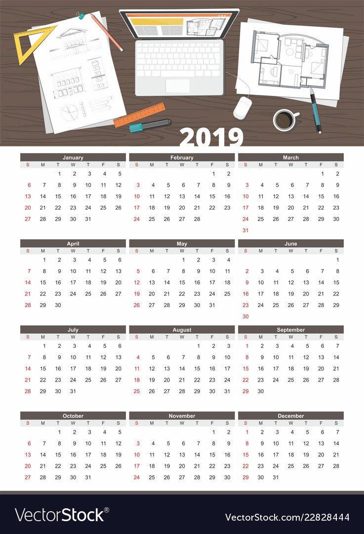 Architect House Plan Calendar 2019 Calendar 2019 House