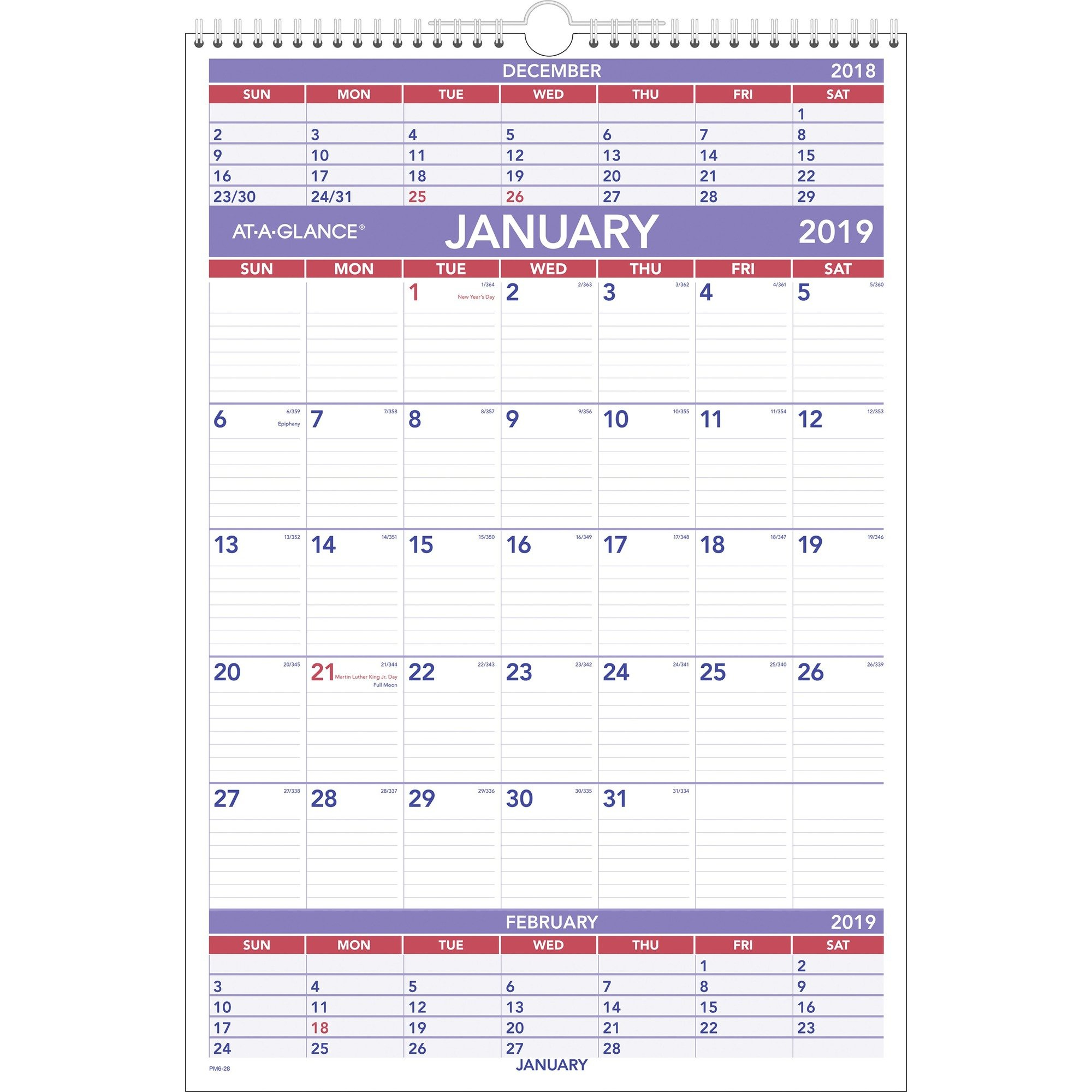 At A Glance 3 Month Wall Calendar – Yes – Quarterly – 1 Year 3 Month Wall Calendar 2019