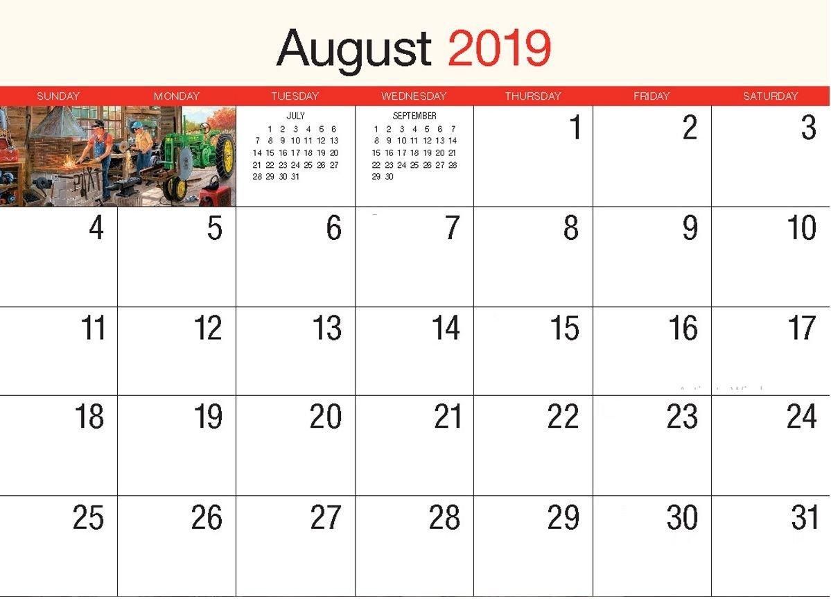 August 2019 Wall Calendar   Calendar 2018   Printable Calendar August 9 2019 Calendar