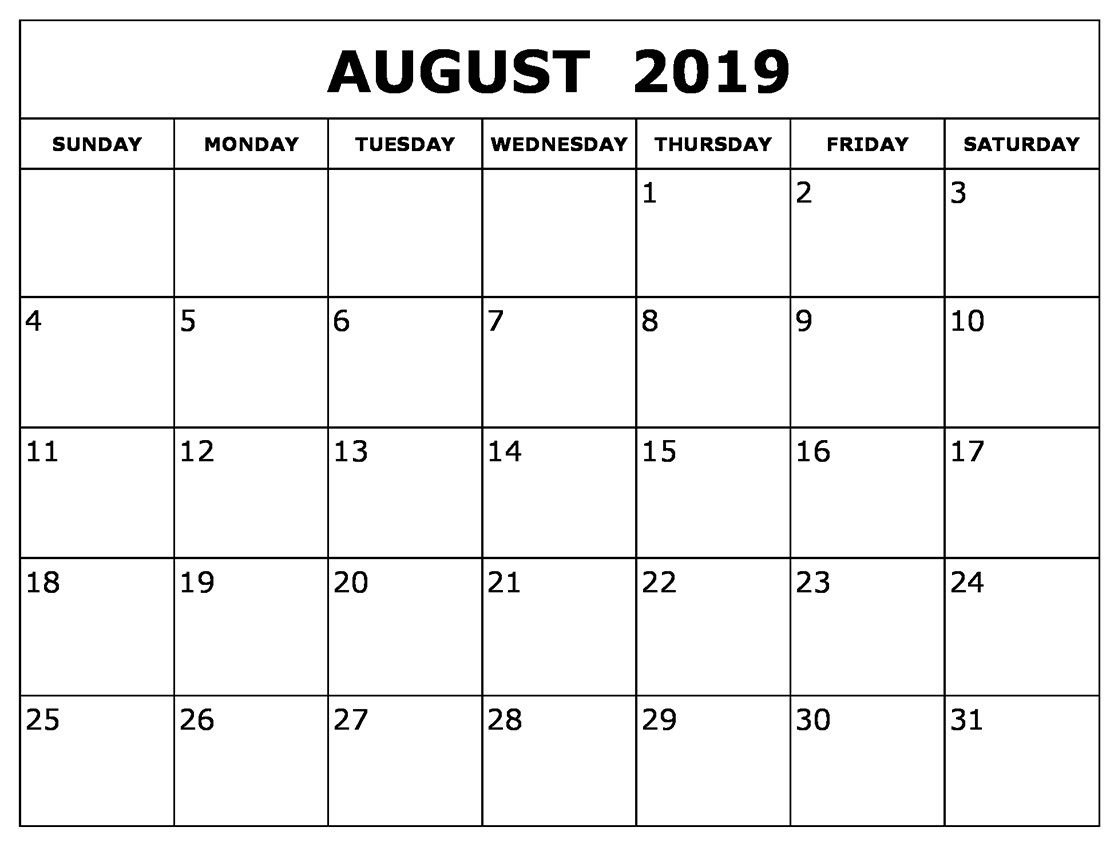 August Calendar 2019 Waterproof | August 2019 Calendar For Monthly Calendar 2019 Waterproof