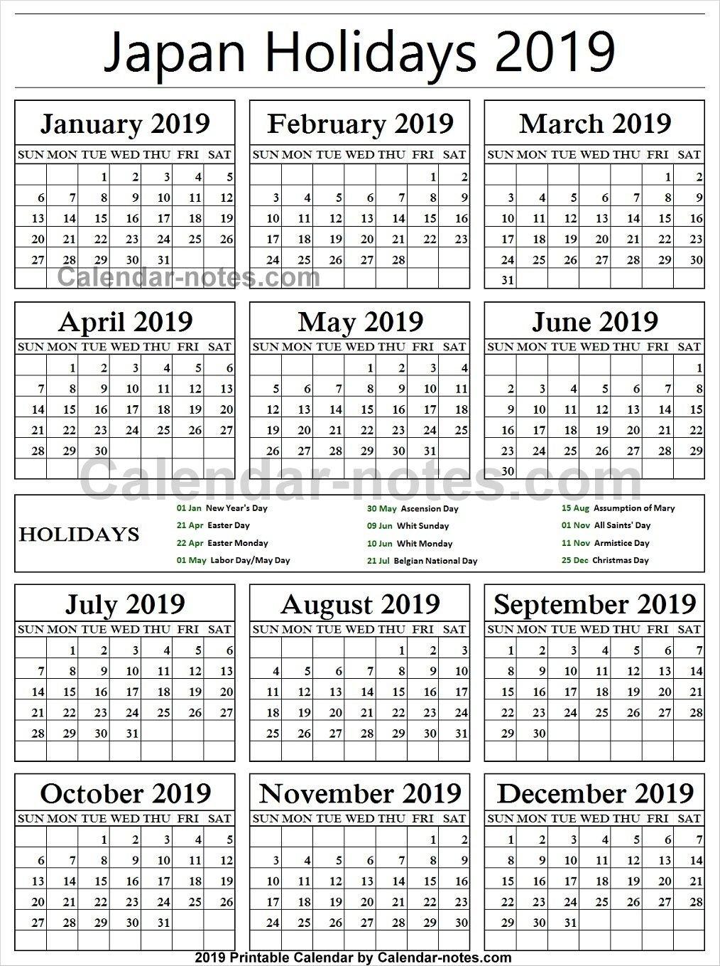 Belgium Holiday 2019 Calendar   Holidays Calendar 2019   Portugal Calendar 2019 Belgium