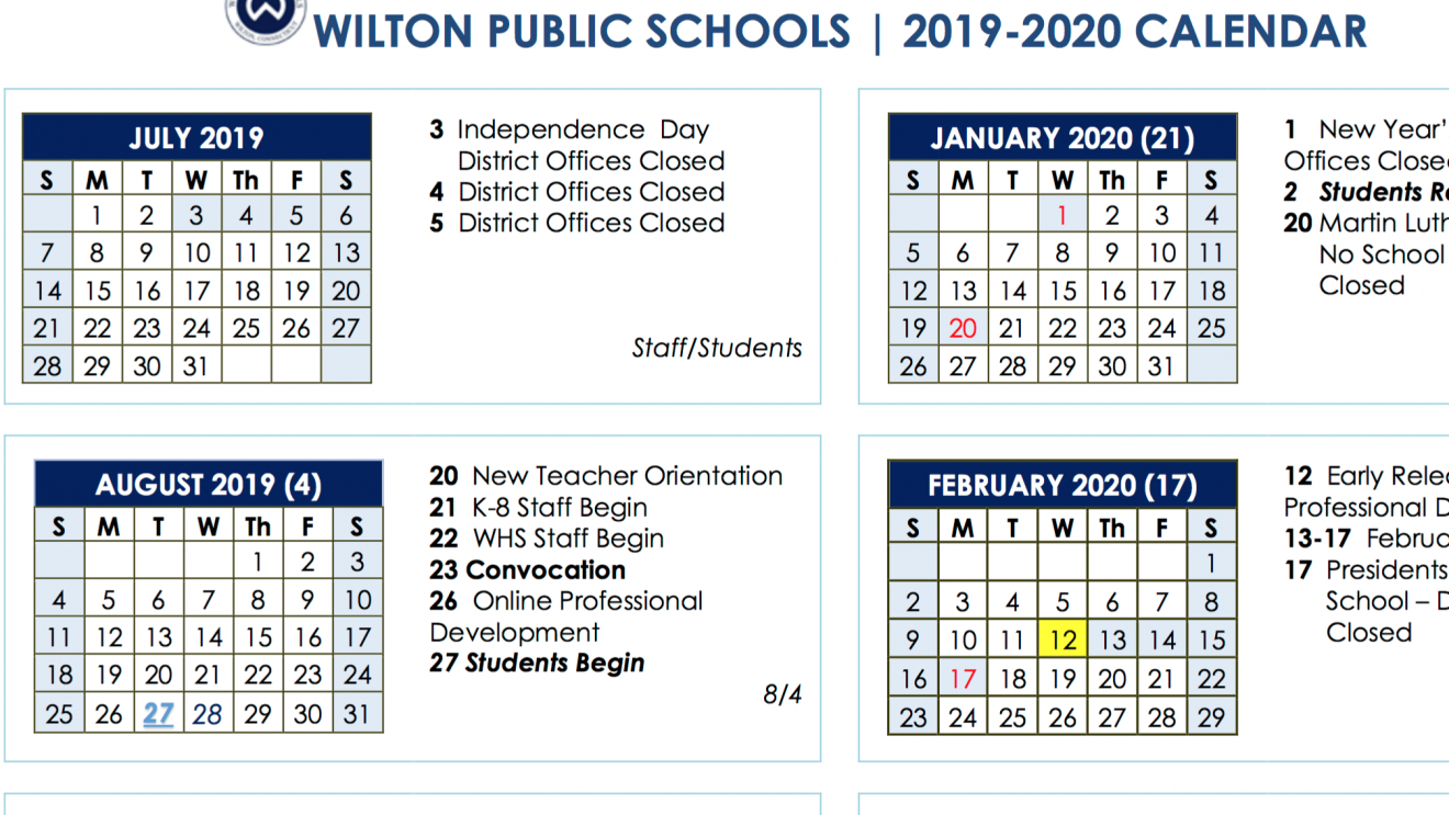 Board Of Education Approves 2019 2020 And 2020 2021 School Year Chase 5 Calendar 2019