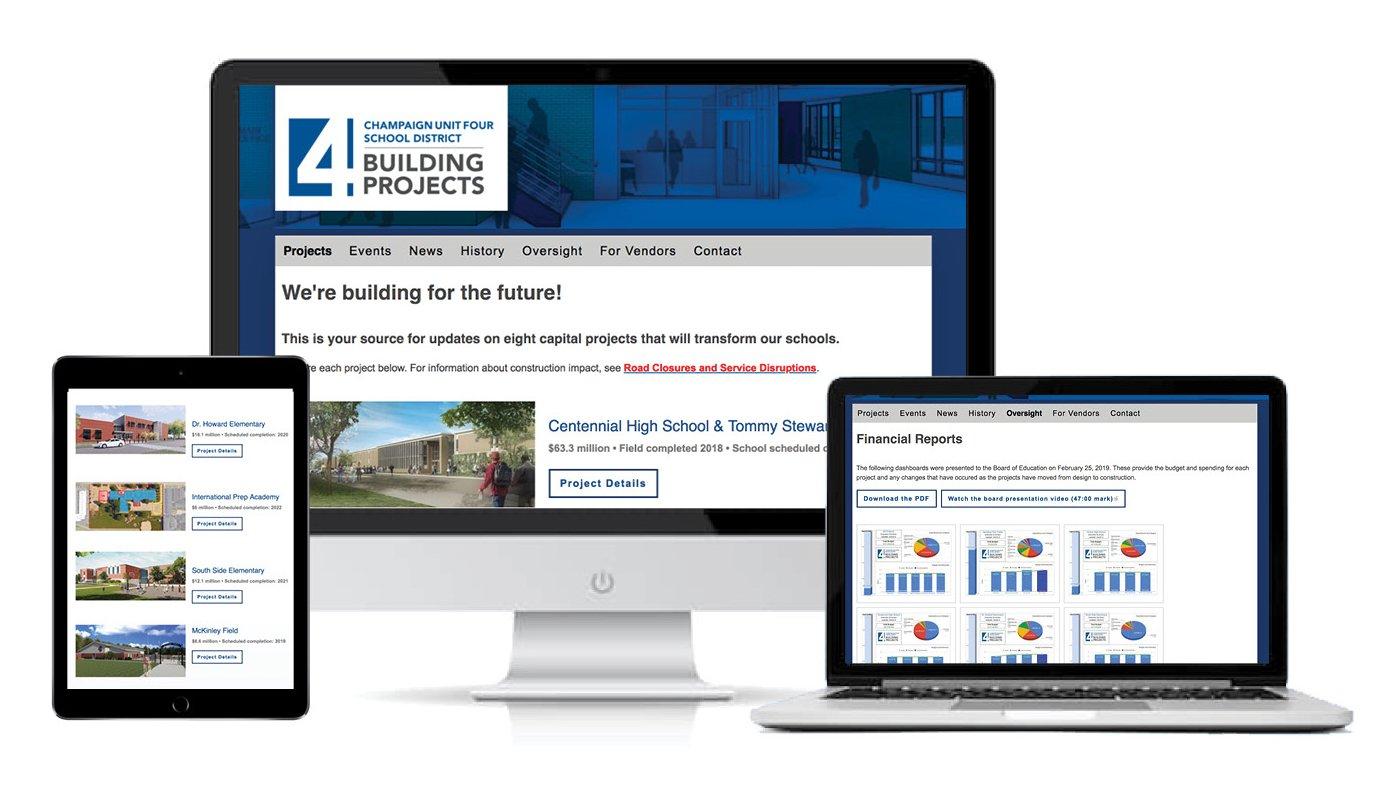 Building Projects Website Gets User Friendly Refresh   Champaign Champaign Unit 4 Calendar 2019