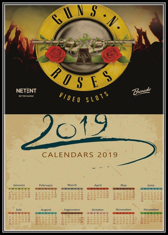 Buy Wallpaper Calendar And Get Free Shipping On Aliexpress Guns N Roses Calendar 2019