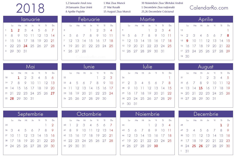 Calendar 2018 Romana   Calendar Template 2019 Calendar 2019 Romana