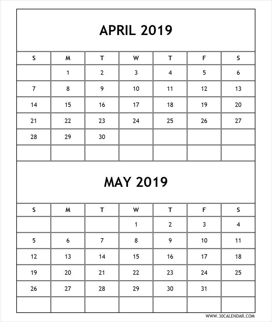 Calendar 2019 April May Printable Free   April 2019 Calendar Calendar 2019 April May
