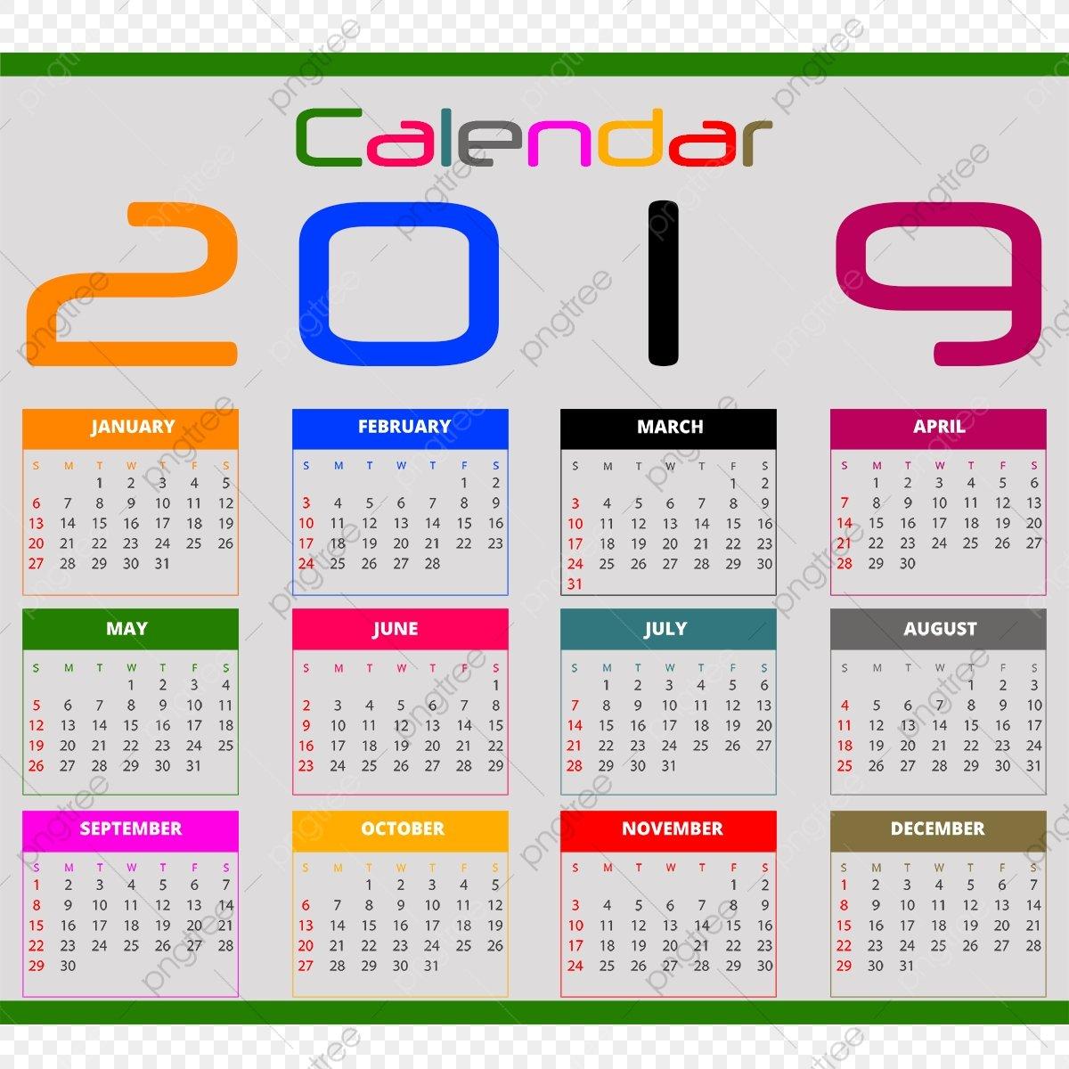Calendar 2019, Calendar 2019 تقويم 2019, 2019 Calendar, Calendar Calendar 2019 Clipart