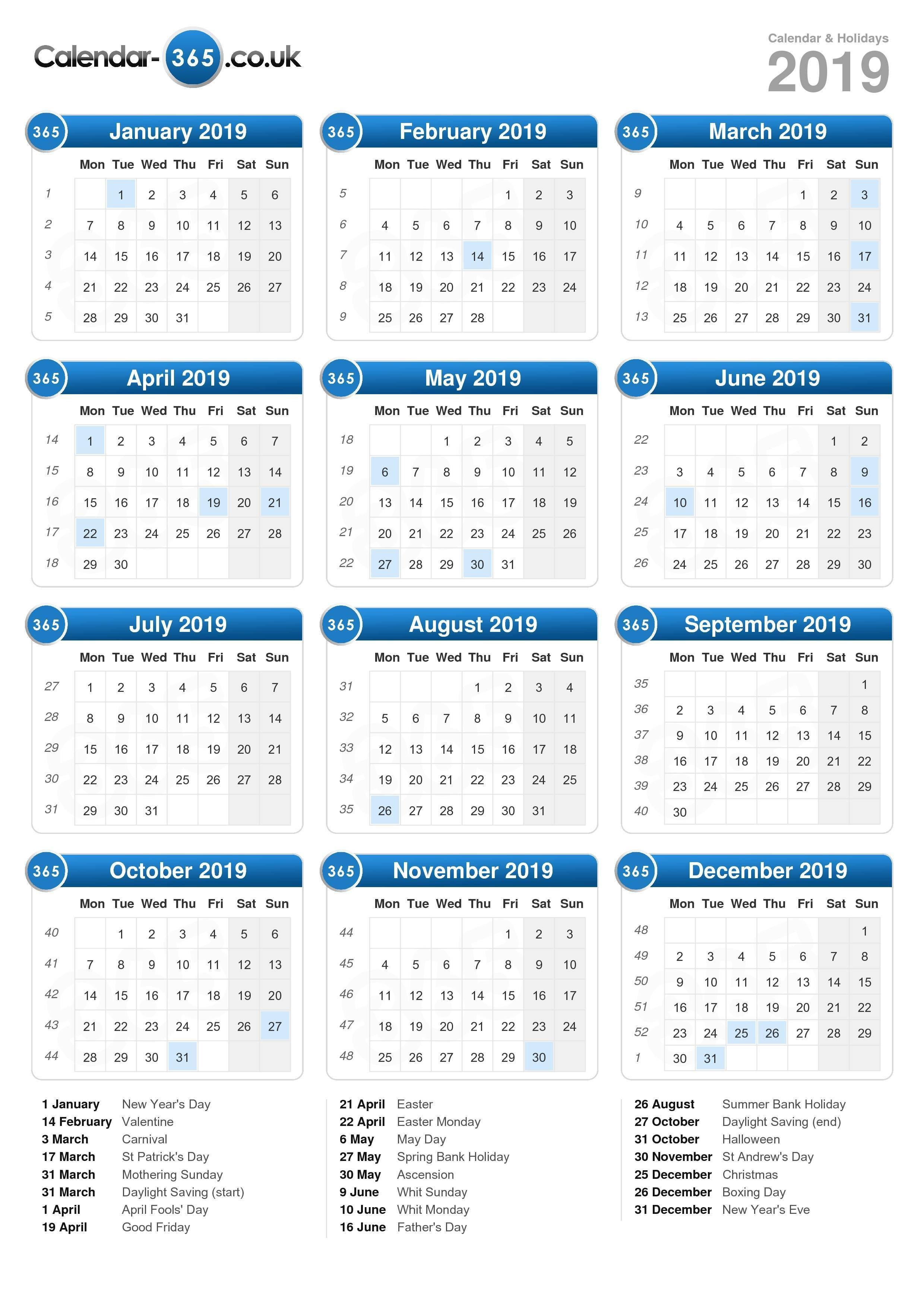Calendar 2019 Calendar Week 3 2019