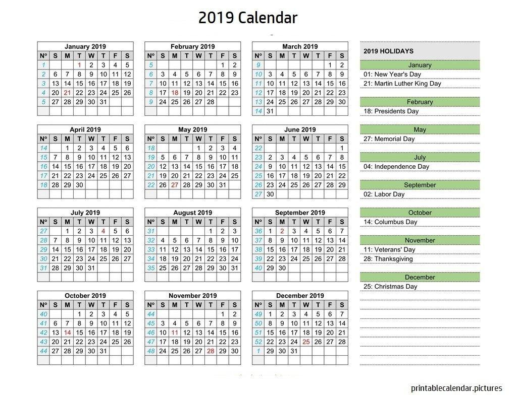 Calendar 2019 Holidays | 2019 Calendar Holidays | Calendar 2019 U.s. Holiday Calendar 2019