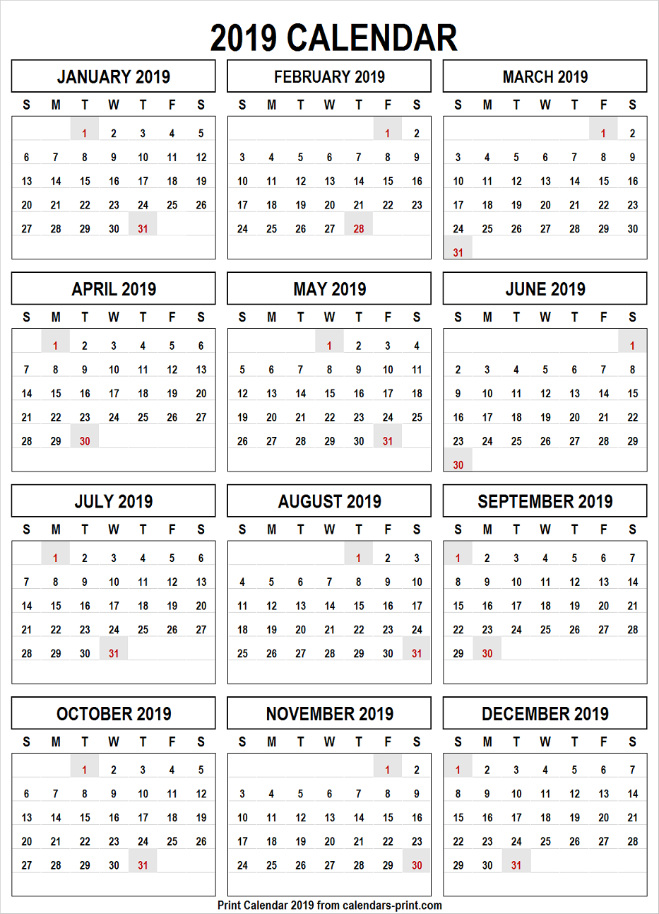 Calendar 2019 Png Free Download Template With Notes | Holidays Calendar 2019 Download