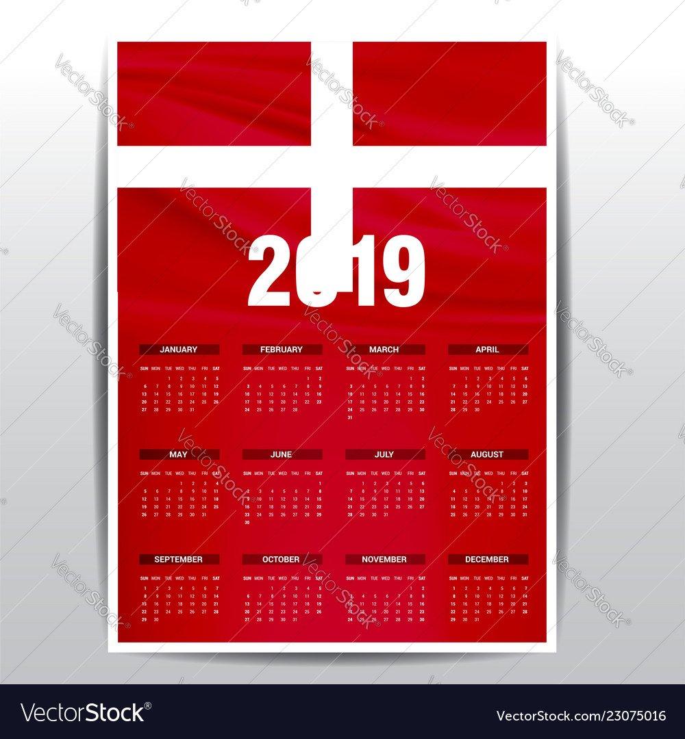 Calendar 2019 Sovereign Military Order Of Malta Vector Image Calendar 2019 Order