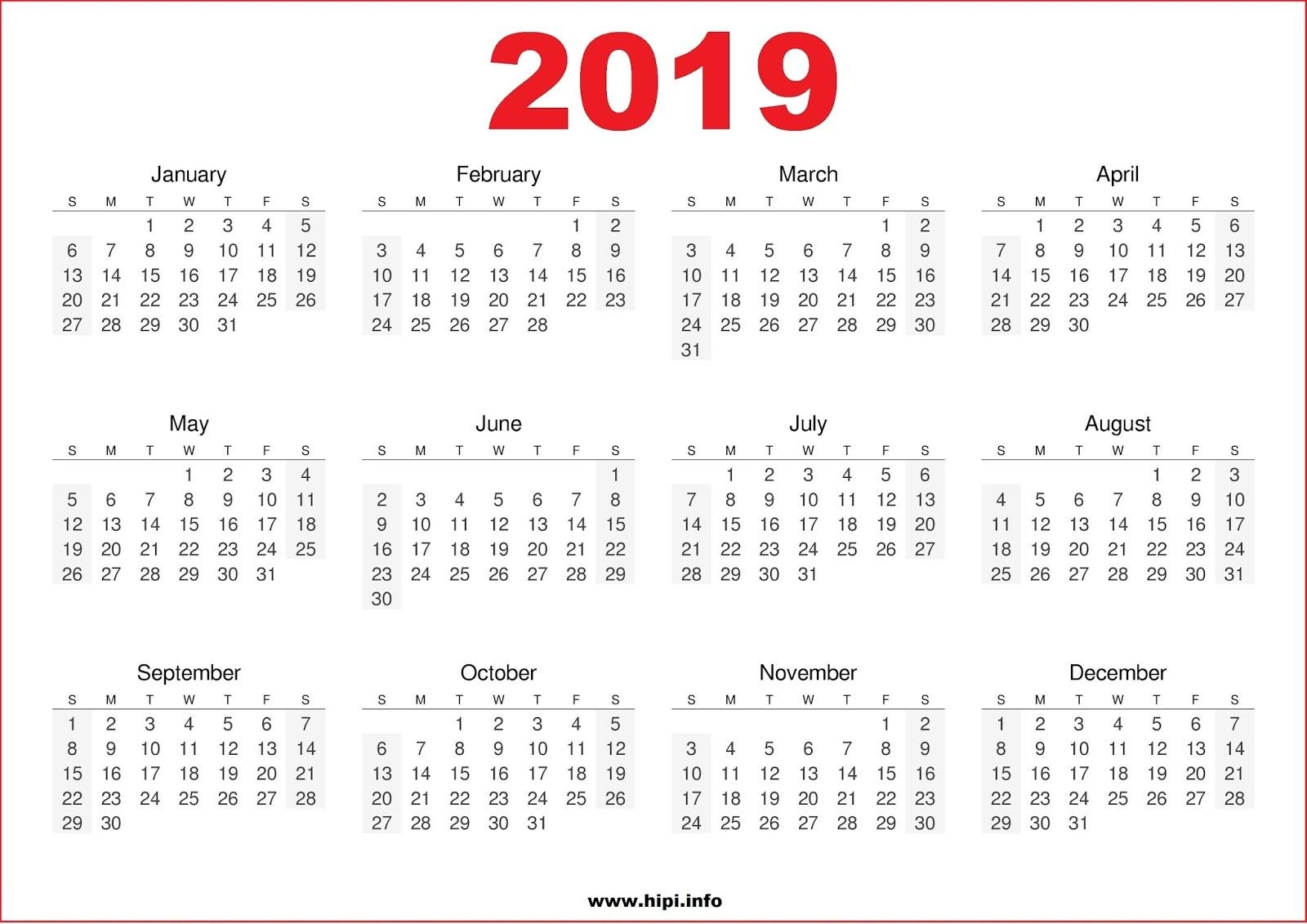 Calendar 2019 Wallpapers – Wallpaper Cave Calendar 2019 Wallpaper