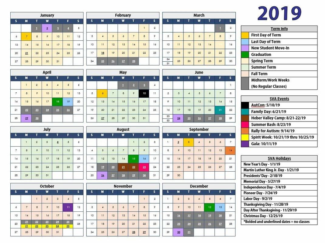Calendar & Announcements – Scenicview Academy D&d Calendar 2019