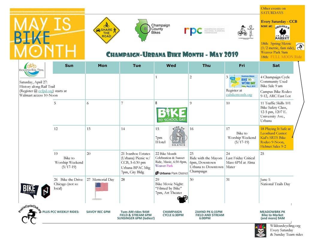 Calendar – C U Bike Month 2019 U Of C Calendar 2019