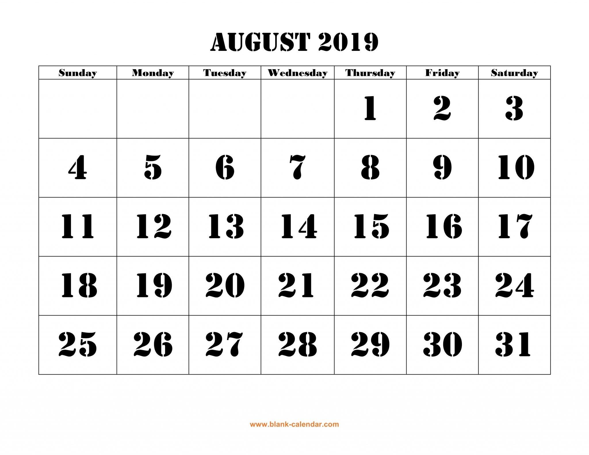 Calendar For August 2019 – Free Printable Calendar, Templates And August 9 2019 Calendar