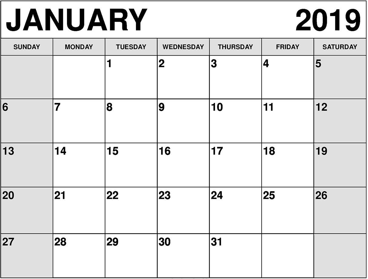 Calendar January 2019 With To Do List – Free August 2019 Calendar Calendar 2019 List