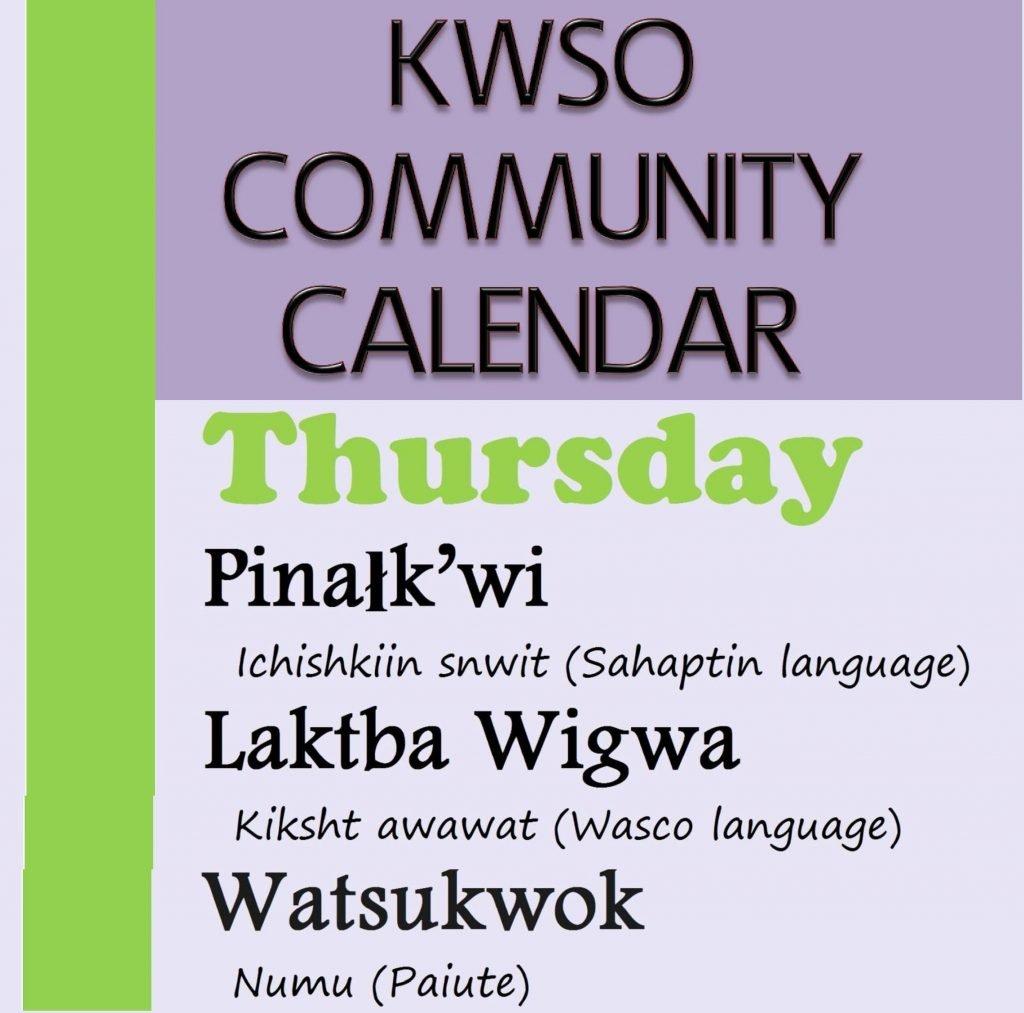 Calendar Thu., Feb. 7, 2019 – Kwso 91.9 Feb 7 2019 Calendar