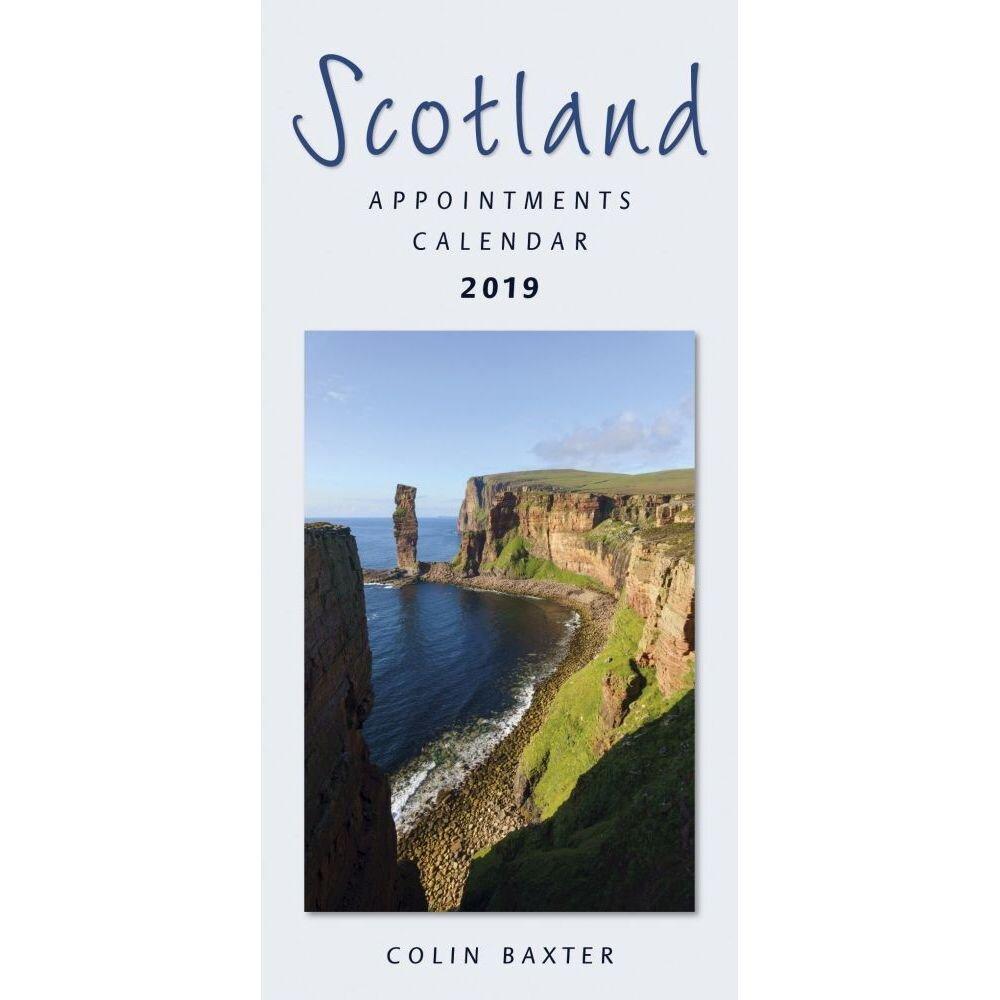 Calendarsdotcom: 2019 Scotland Slim Calendar,colin Baxter Calendar 2019 Scotland