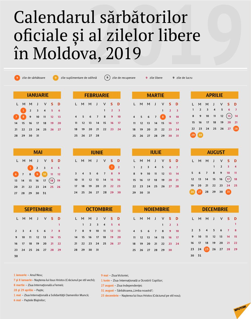 Calendarul Zilelor De Odihnă În Moldova Pentru Anul 2019 Calendar 0Rtodox 2019