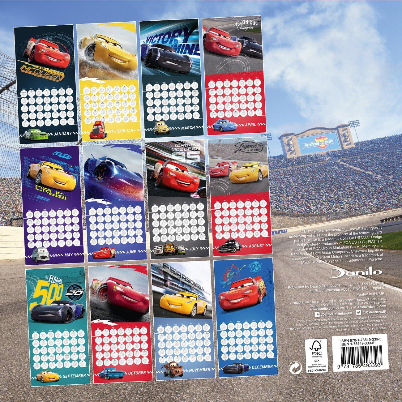 Cars 3 - Calendars 2020 On Ukposters/ukposters Cars 3 Calendar 2019