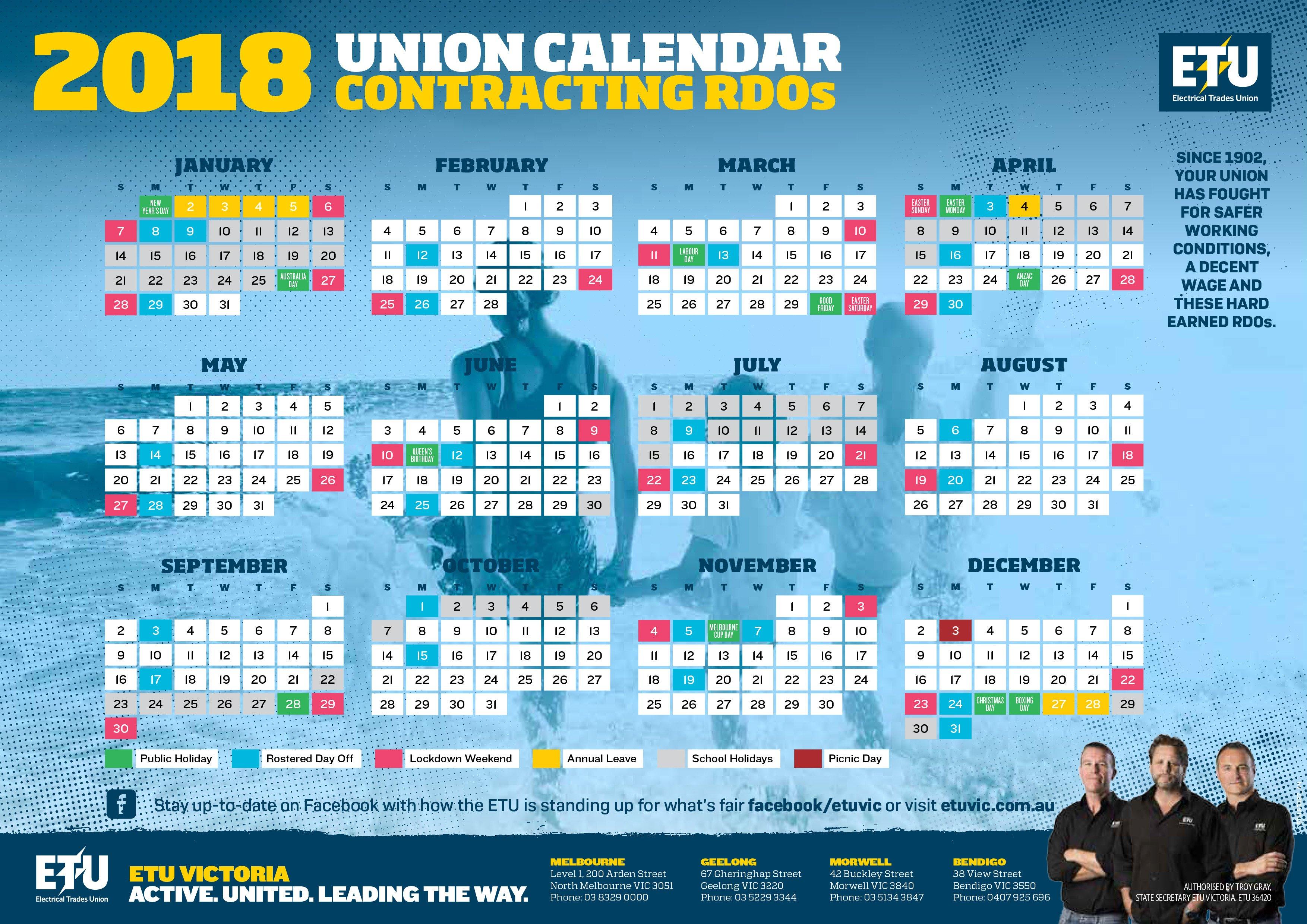 Contracting Rdo Calendar U Of R Calendar 2019