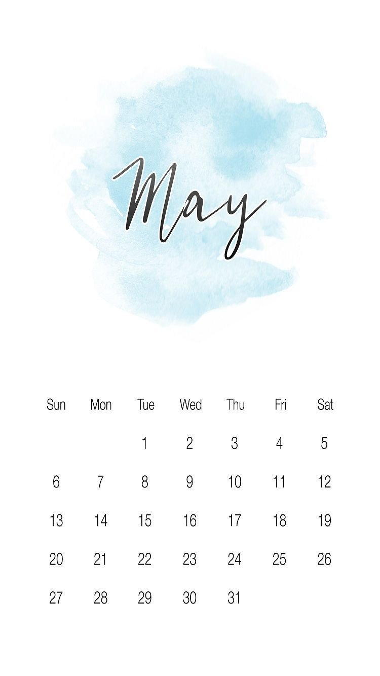 Cool May 2018 Iphone Calendar Wallpapers Images And Photos.   May Calendar 2019 Cool