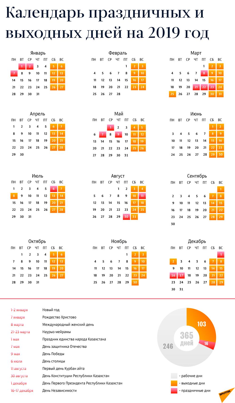 Календарь 2019 Года: Праздники И Выходные Calendar 2019 Trackid=Sp 006