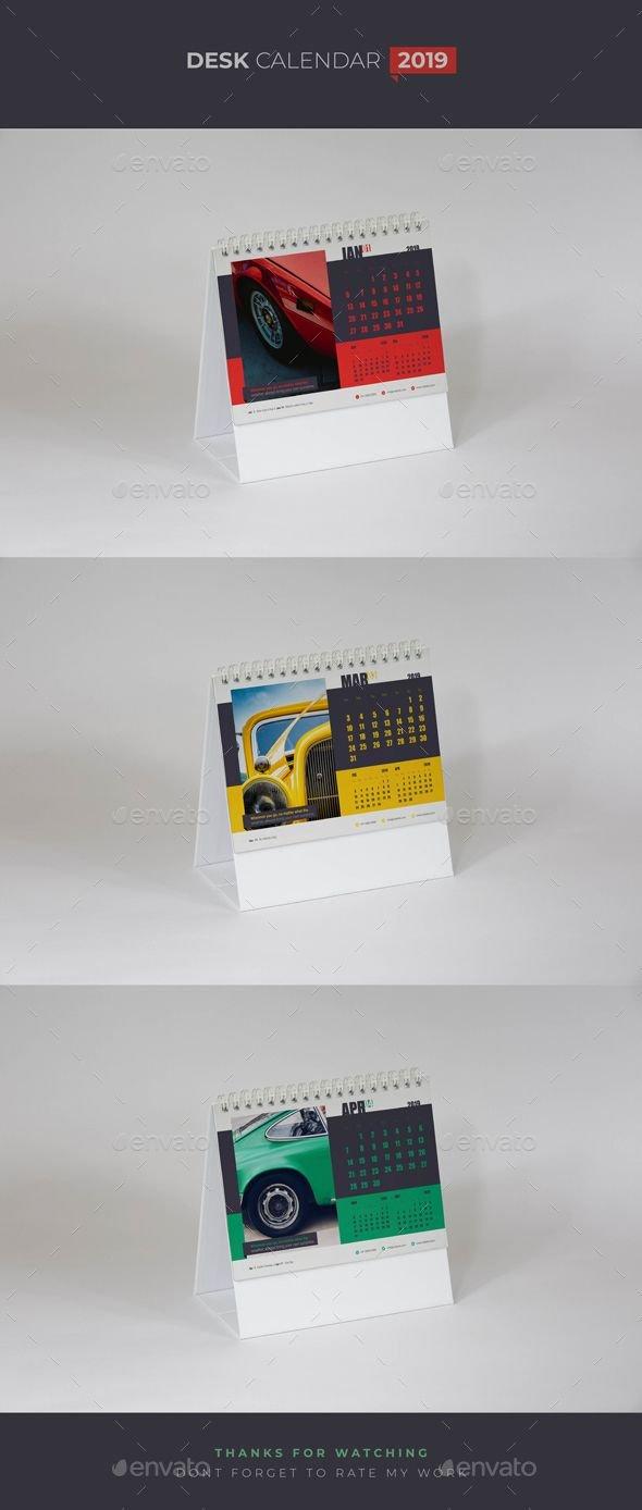 قالب التقويم للانديزاين Indesign Templates   544   Calendar 2019 544 Calendar 2019