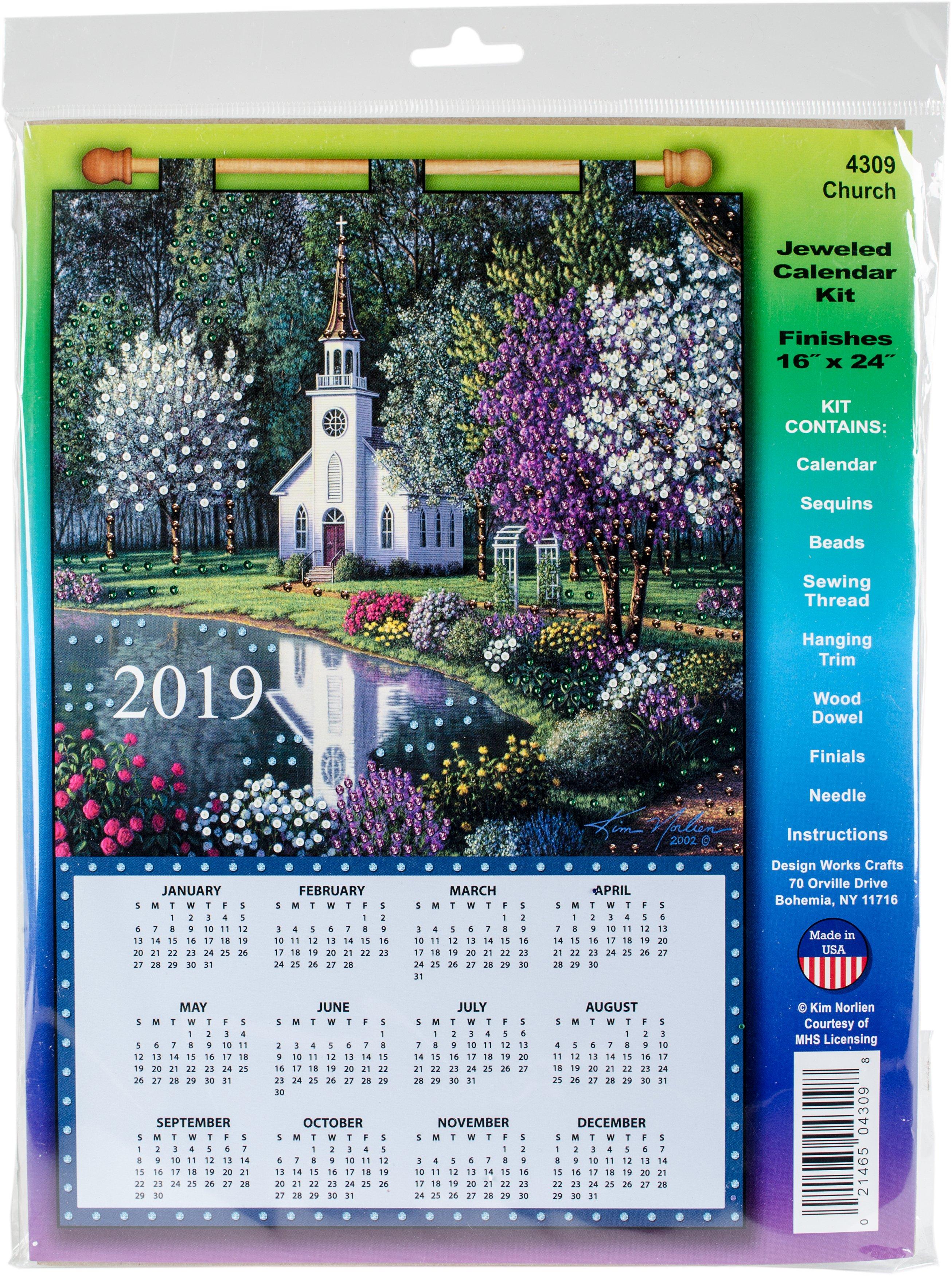 Design Works 2019 Calendar Felt Applique Kit Church   Walmart Canada 544 Calendar 2019