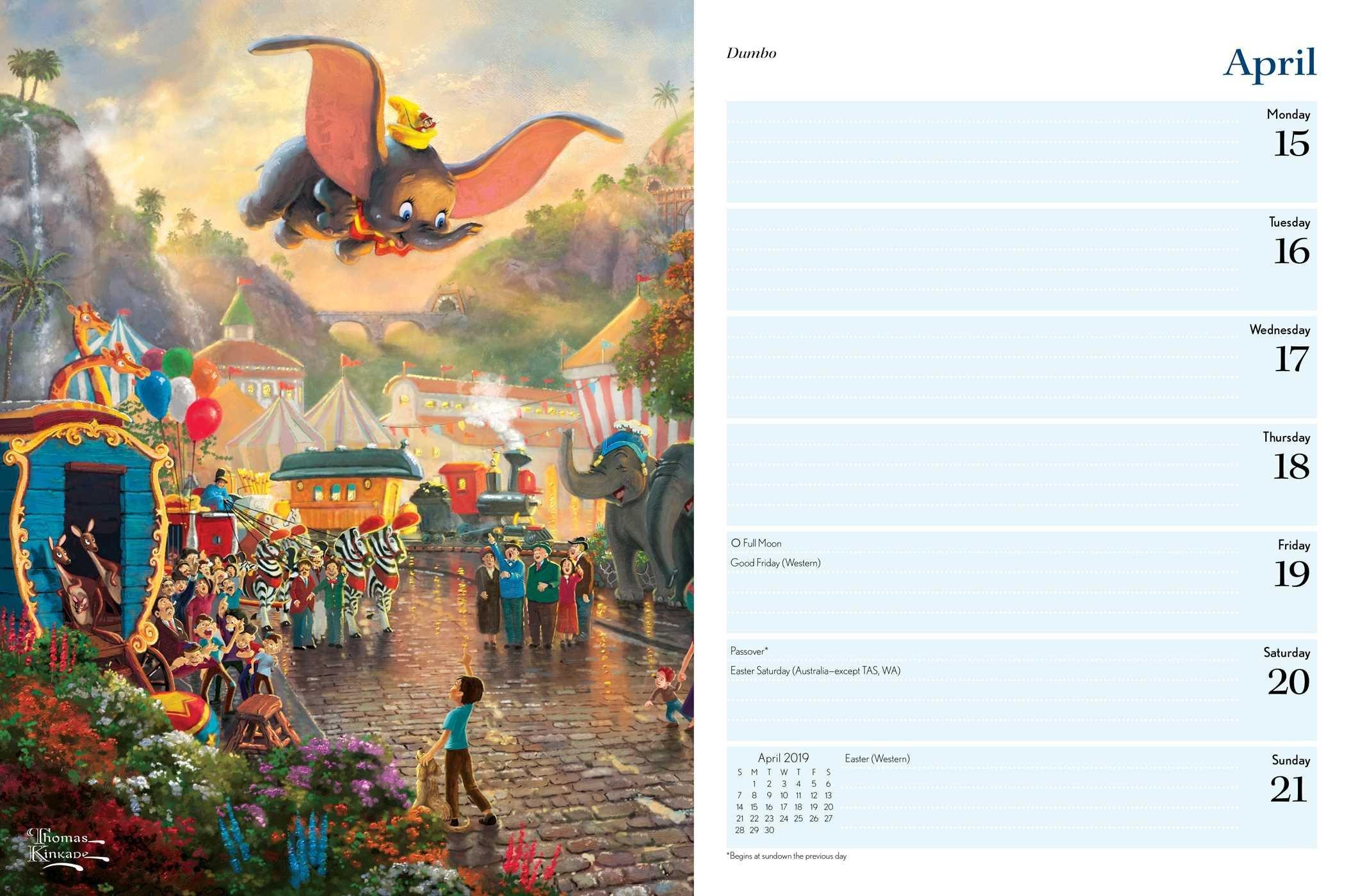 Disney Dreams Collection 2019 Engagement Calendar – Disneyland.shopping Calendar 2019 Thomas Kinkade
