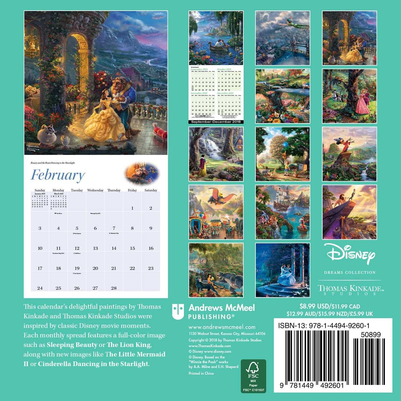 Disney Dreams Collection 2019 Mini Wall Calendar – Disneyland.shopping Calendar 2019 Disney