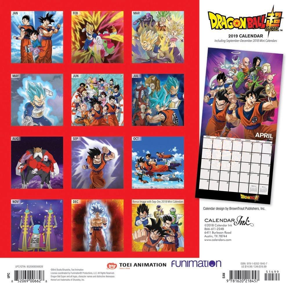 Dragon Ball 2019 Wall Calendar, Animecalendars – Walmart Dragon Ball Z Calendar 2019