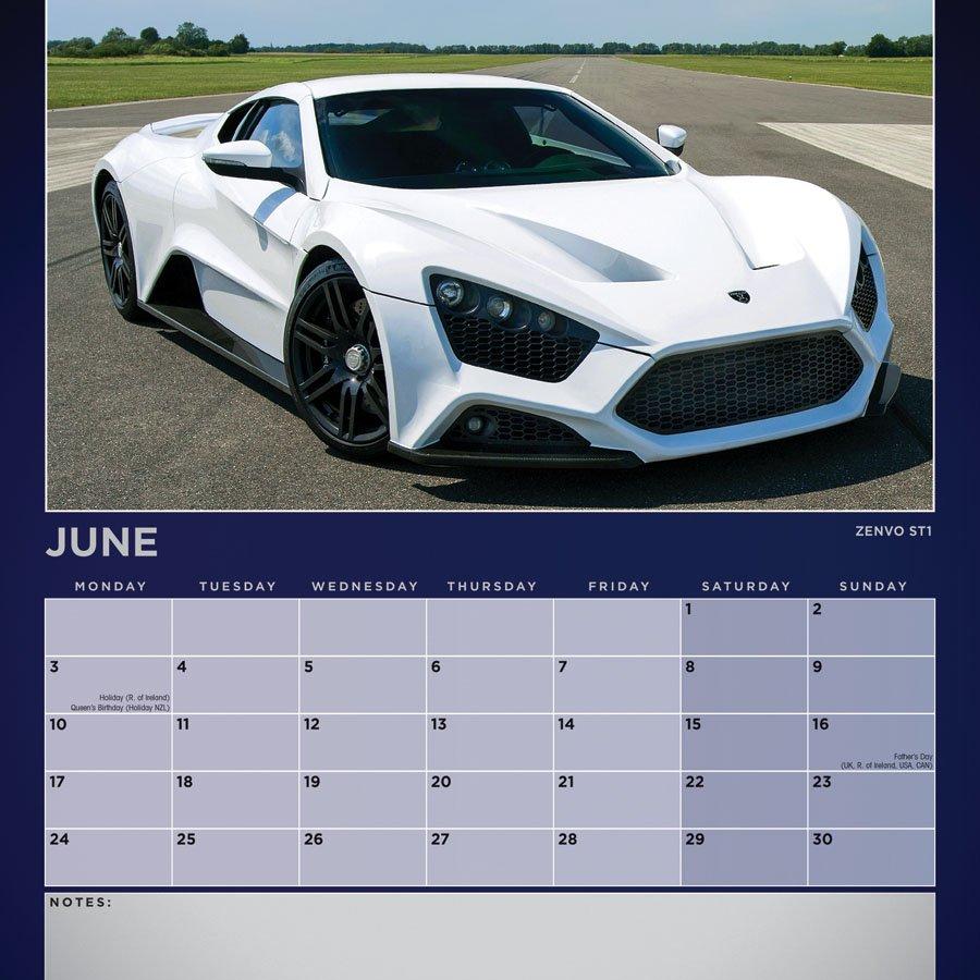 Dream Cars Calendar – 2019 Square Wall | Carousel Calendars Calendar 2019 Cars