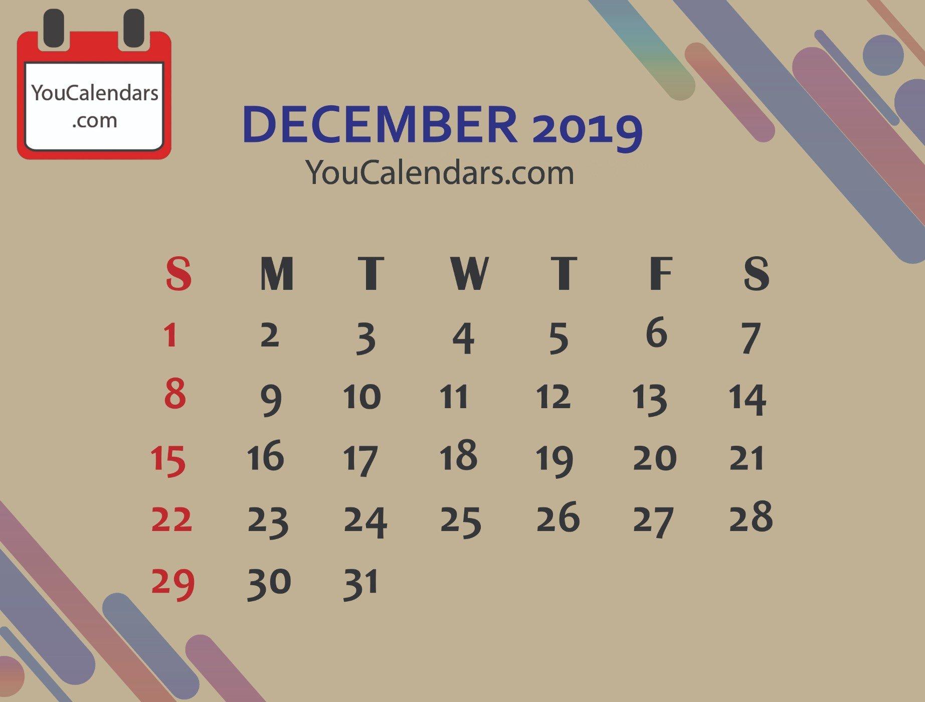 ✅Free December 2019 Calendar Printable Template – You Calendars 6 Nations 2019 Calendar Download