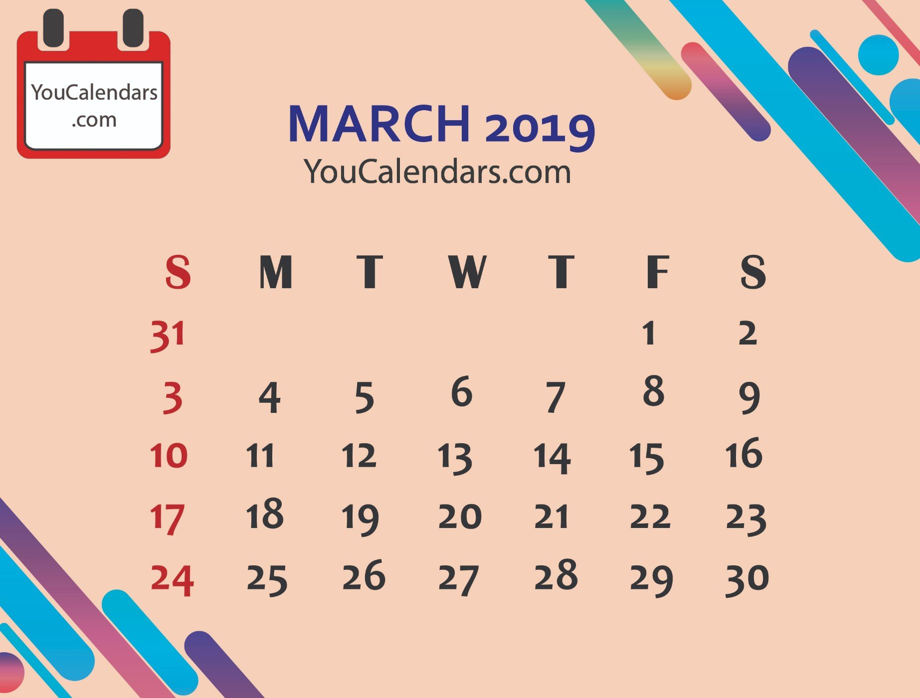 ✅Free March 2020 Calendar Printable Template – You Calendars March 8 2019 Calendar