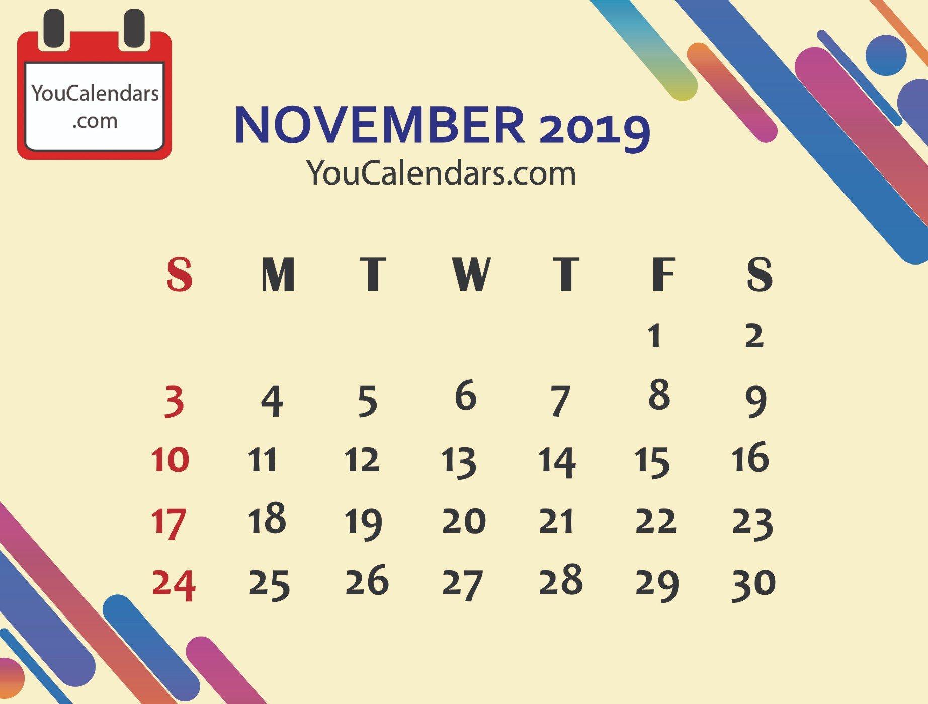 ✅Free November 2019 Calendar Printable Template – You Calendars 6 Nations 2019 Calendar Download