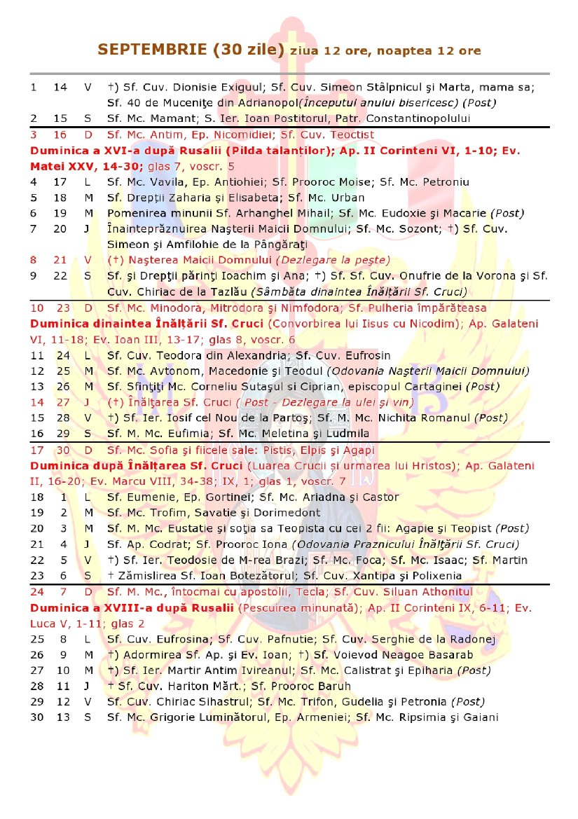 ✨ Calendar Ortodox Luna Iunie 2019   Calendar Ortodox 2019, Iulie Calendar 0Rtodox 2019