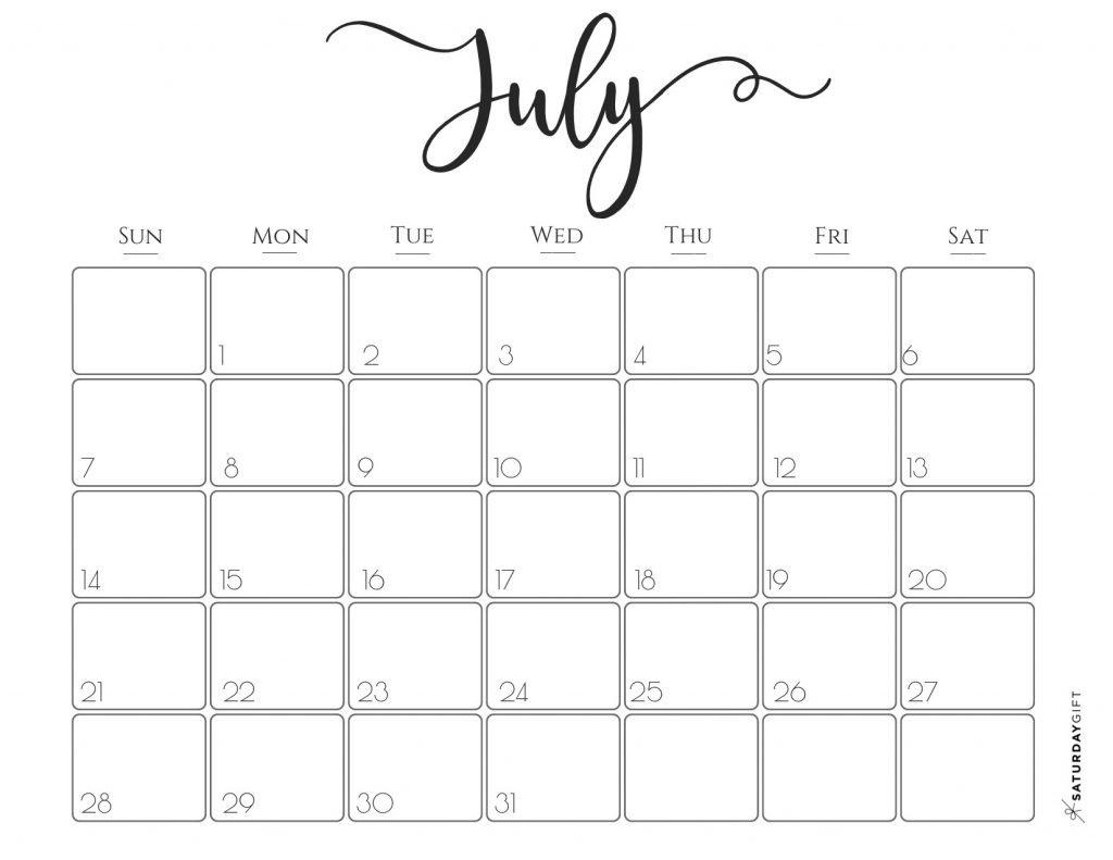 Elegant 2019 Calendar {Free Printables}   Saturdaygift Calendar 2019 Gift